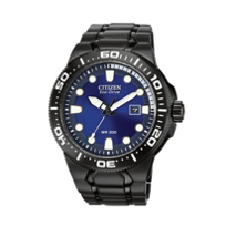 Citizen_Scuba_Fin_Men's_Bracelet_Watch,_Black_with_Blue_Dial