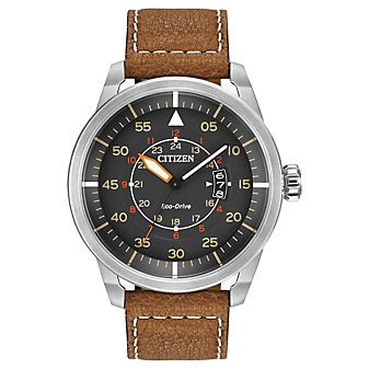 Citizen Avion Brown Strap Watch