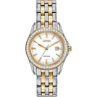 Citizen Silhouette Crystal Two-Tone Traditional Watch