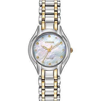 Citizen Silhouette Mother of Pearl Two-Tone Round Watch