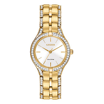 Citizen Silhouette Crystal Gold-Tone Dress Watch