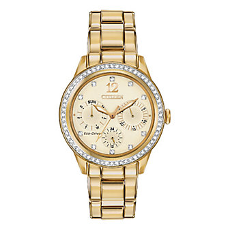 Citizen Silhouette Crystal Yellow Gold-Tone Mens' Watch