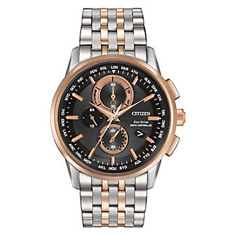 Citizen World Chronograph A-T Two-Tone Watch