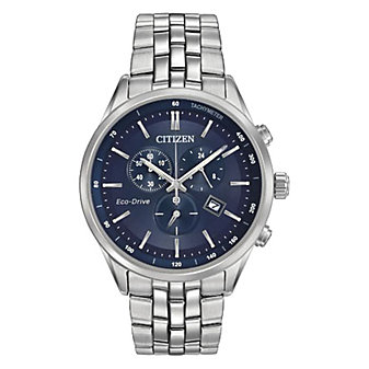 Citizen Sapphire Men's Bracelet Watch, Navy Dial