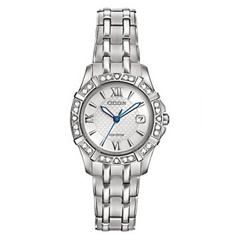Citizen Eco-Drive Ladies' Diamond Blue-Accent Watch