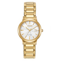 Citizen_Eco-Drive_Silhouette_Sport_Ladies'_Gold-Tone_Watch