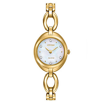 Citizen Eco-Drive Silhouette Gold-Tone Ladies' Watch