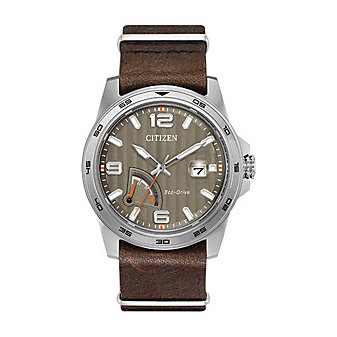 Citizen Eco-Drive PRT - Brown Leather Strap Watch