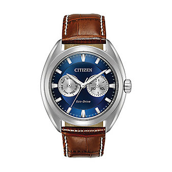 Citizen Eco-Drive Paradex Leather Band Watch