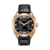 Citizen_Eco-Drive_Paradex_Black_Leather_&_Rose_Gold_Tone_Watch