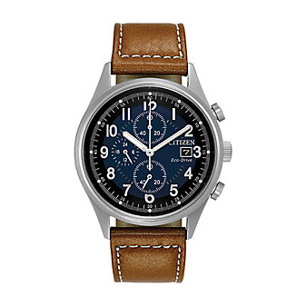 Citizen Eco-Drive Chandler Brown Leather Strap Watch