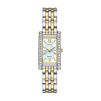 Citizen Eco-Drive Silhouette Crystal Two Tone Watch