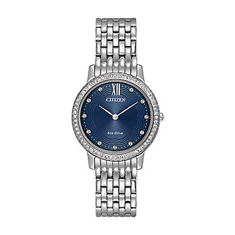 Citizen Eco-Drive Silhouette Crystal Navy Blue Watch