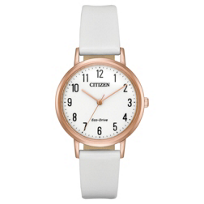 citizen_eco_drive_chandler_rose_tone_watch_with_white_leather_strap