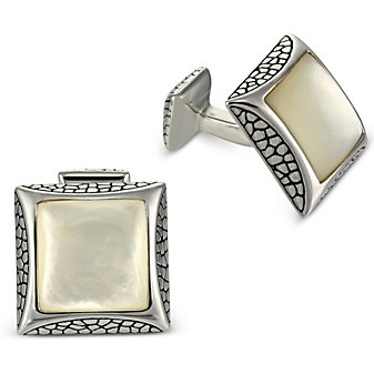 Sterling Silver and Mother of Pearl Cufflinks