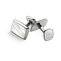 M-Clip_White_Mother_of_Pearl_Tapered_Rectangle_Cufflinks