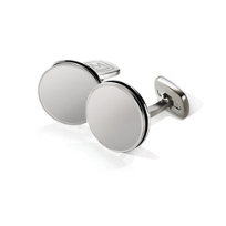 M-Clip_Brushed_Stainless_Bordered_Round_Cufflinks