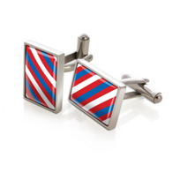 M-Clip_Team_Stripes_Red,_White,_&_Blue_Rep_Tie_Cufflinks