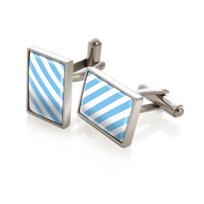 M-Clip_Team_Stripes_Light_Blue_&_White_Inlay_Cufflinks