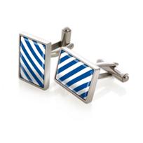 M-Clip_Team_Stripes_Blue_&_White_Inlay_Cufflinks