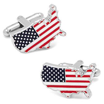 USA Stars & Stripes Cufflinks