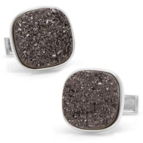 Sterling_Black_Square_Druzy_Cufflinks