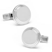 Round_Step_Sterling_Silver_Cufflinks