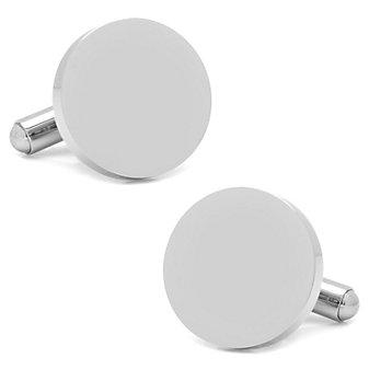 Stainless Steel Round Infinity Cufflinks