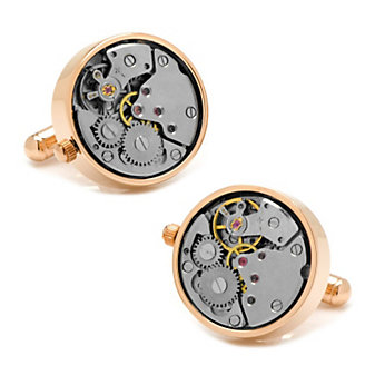 Rose Gold Watch Movement Cufflinks