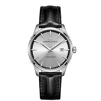 Hamilton Jazzmaster Gent Quartz with Black Leather Strap Watch