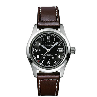 Hamilton Khaki Field Auto 38MM Watch with Brown Leather Strap