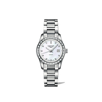 Longines Conquest Classic Stainless Steel Diamond Watch