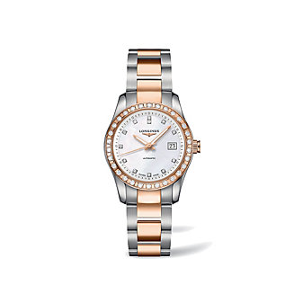 Longines Conquest Classic Two-Tone Diamond Watch