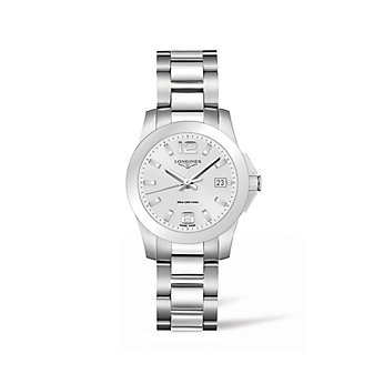 Longines Conquest 34MM Stainless Steel Watch