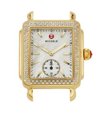 Michele Deco 16 Gold Diamond Watch Head