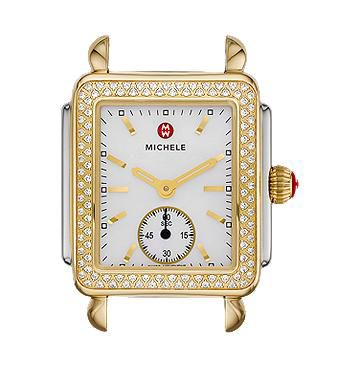 Michele Deco 16 Two-Tone Diamond Watch Head