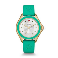 Michele_Cape_Topaz_Gold_Tone_Green_Watch