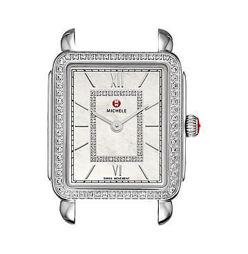 Michele Deco II Mid-size Diamond, Diamond Dial Watch