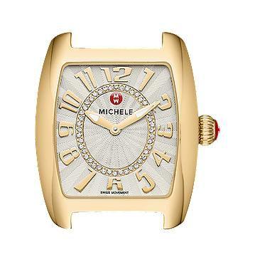 Michele Urban Mini Gold, Diamond Dial Watch