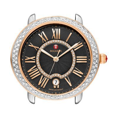 Michele Serein 16 Diamond Two-Tone Rose Gold Watch Head