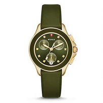 Michele_Cape_Chrono_Green_and_Gold_Tone_Watch