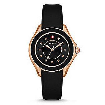 Michele Cape Topaz Black and Rose Tone Watch