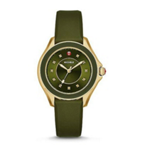 Michele_Cape_Topaz_Green_and_Gold_Tone_Watch