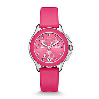 Michele Cape Chrono Hot Pink Watch
