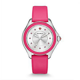Michele Cape Topaz Hot Pink Watch