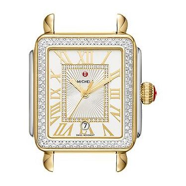Michele Deco Madison Two-Tone Diamond Watch Dial