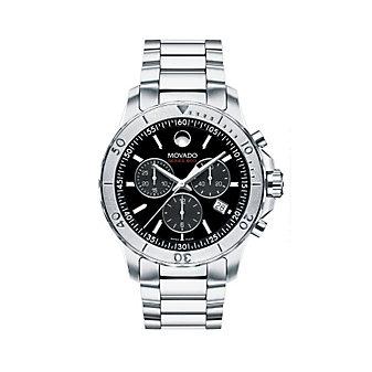 Movado Series 800 Men's Chronograph Bracelet Watch, Black Dial