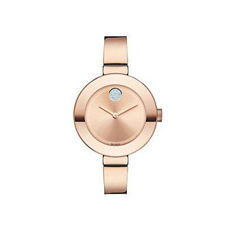 Movado Bold Rose Tone Bracelet Watch