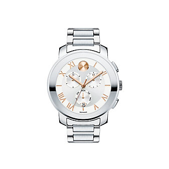 Movado Bold Luxe Chronograph Unisex Stainless Steel Watch