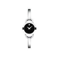 Movado_Rondiro_Women's_Stainless_Steel_Watch,_Black_Dial